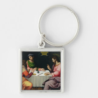 The Supper at Emmaus, c.1520 Silver-Colored Square Keychain