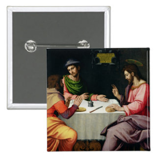 The Supper at Emmaus, c.1520 Pinback Button