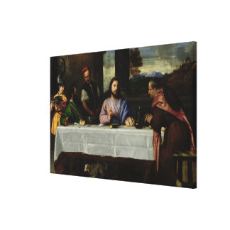 The Supper at Emmaus, c.1535 Canvas Print