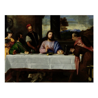 The Supper at Emmaus, c.1535 Postcard