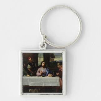 The Supper at Emmaus, c.1535 Silver-Colored Square Keychain