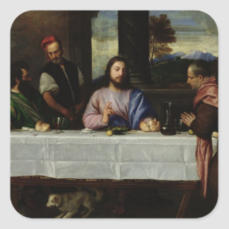 The Supper at Emmaus, c.1535 Square Stickers