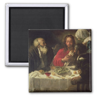 The Supper at Emmaus, c.1614-21 2 Inch Square Magnet