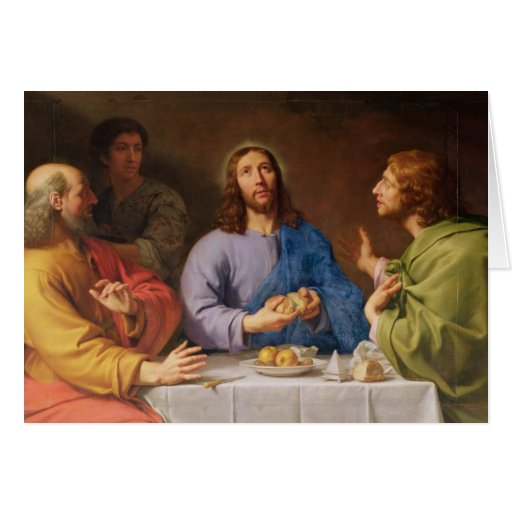 The Supper at Emmaus Greeting Cards