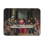 The Supper at Emmaus (oil on panel) Rectangular Magnet