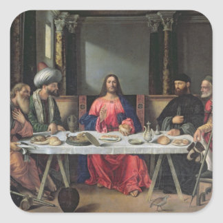 The Supper at Emmaus (oil on panel) Sticker
