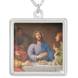 The Supper at Emmaus Silver Plated Necklace