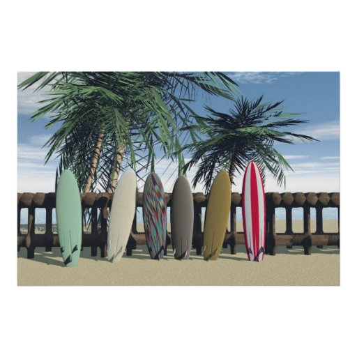 The Surf Print Posters
