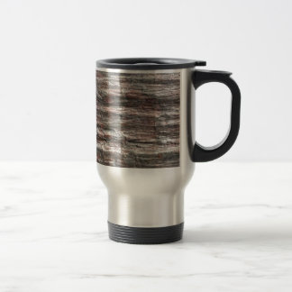 The surface of Phyllite schists of Proterozoic age Travel Mug