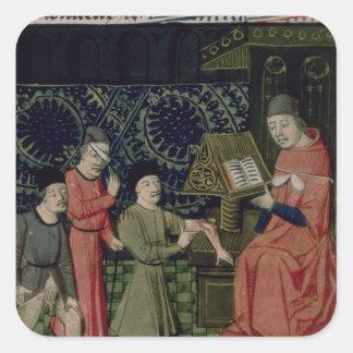 The Surgeon's Clinic, by Guy de Chauliac Square Sticker
