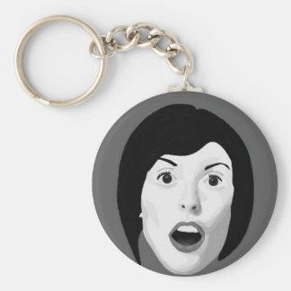 The surprise basic round button keychain
