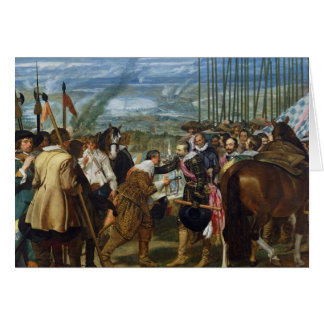 The Surrender of Breda, 1625, c.1635 Card