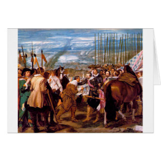 The Surrender of Breda by Diego Velazquez Card