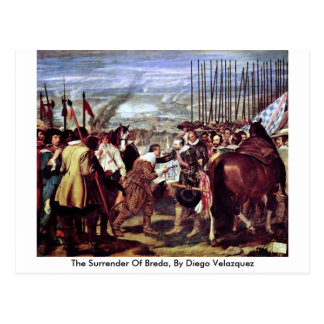 The Surrender Of Breda, By Diego Velazquez Postcard