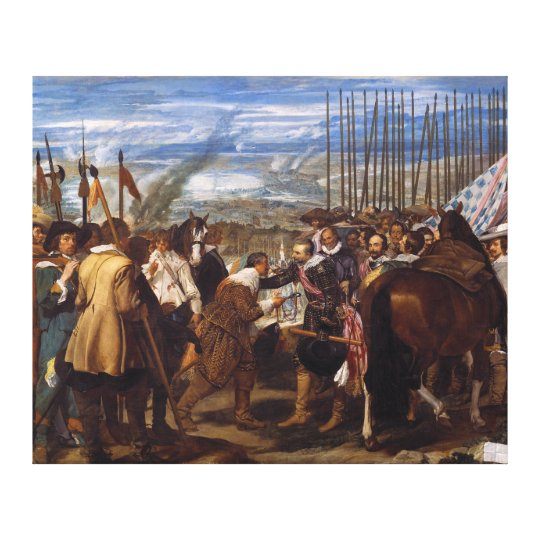 The Surrender of Breda or The Lances by Velázquez Canvas Print