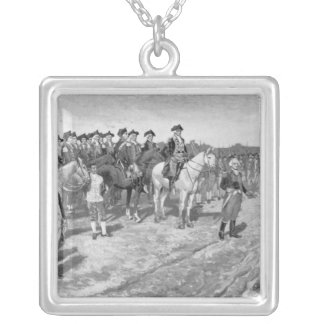 The Surrender of Cornwallis at Yorktown Silver Plated Necklace