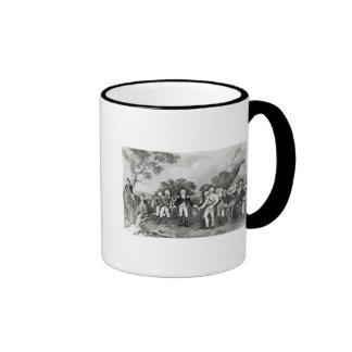 The Surrender of General Burgoyne Saratoga Ringer Coffee Mug
