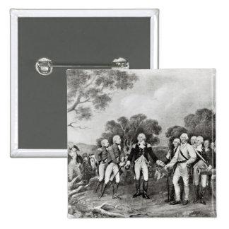 The Surrender of General Burgoyne Saratoga Pinback Button