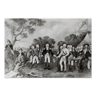 The Surrender of General Burgoyne Saratoga Poster