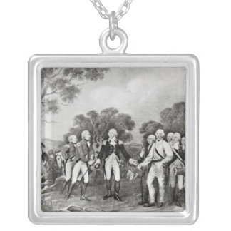 The Surrender of General Burgoyne Saratoga Silver Plated Necklace