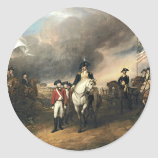 The Surrender of Lord Cornwallis Classic Round Sticker