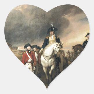 The Surrender of Lord Cornwallis Heart Sticker