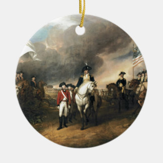The Surrender of Lord Cornwallis Double-Sided Ceramic Round Christmas Ornament