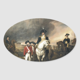 The Surrender of Lord Cornwallis Oval Sticker