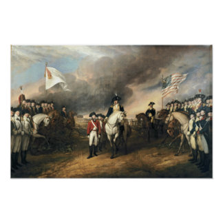 The Surrender of Lord Cornwallis Poster