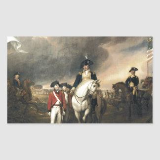 The Surrender of Lord Cornwallis Rectangular Sticker