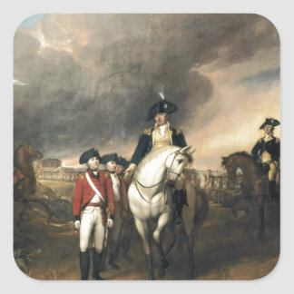 The Surrender of Lord Cornwallis Square Sticker