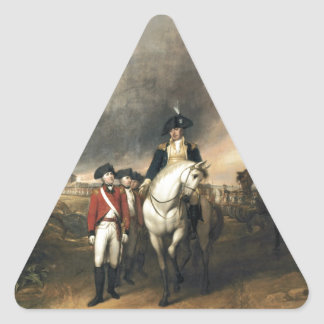 The Surrender of Lord Cornwallis Triangle Sticker