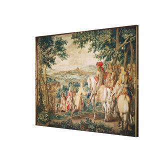 The Surrender of Marsal in Gobelins Workshop Canvas Print