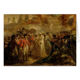 The Surrender of the Two Sons of Tipu Sahib (1749- Card