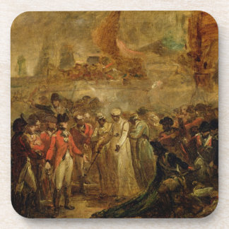 The Surrender of the Two Sons of Tipu Sahib (1749- Coaster