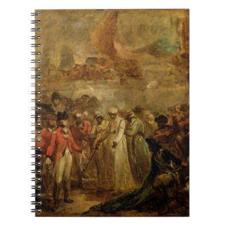 The Surrender of the Two Sons of Tipu Sahib (1749- Notebook