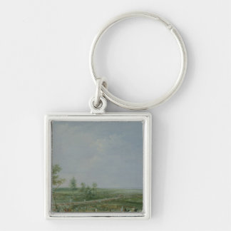 The Surrender of Yorktown Silver-Colored Square Keychain