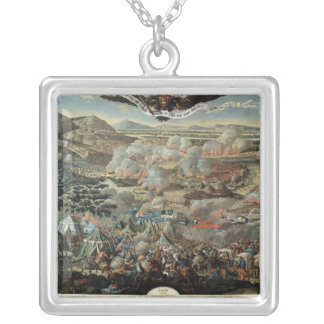The Surrounding of Vienna by the Turks in 1683 Silver Plated Necklace