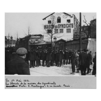 The surroundings of the Maison des Syndicats, Poster