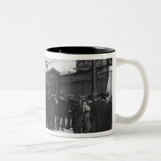 The surroundings of the Maison des Syndicats, Two-Tone Coffee Mug