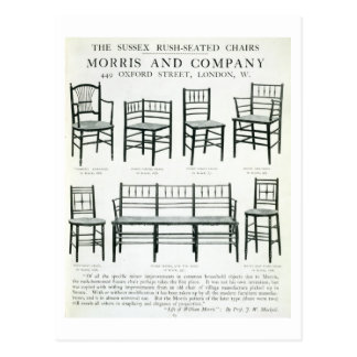 The Sussex Rush-Seated Chairs, made by Morris and Postcard