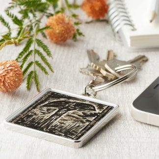 The Swamp Silver-Colored Square Keychain