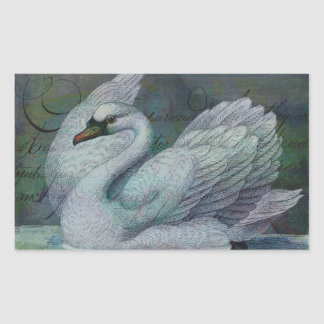 The Swan Also Rises Rectangular Sticker