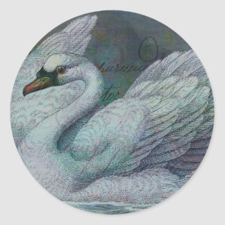 The Swan Also Rises Round Stickers