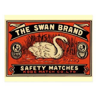 The Swan Brand Safety Matches Postcard