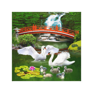 THE SWAN FAMILY CANVAS PRINT
