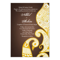 The Swan Golden Brown Invitation