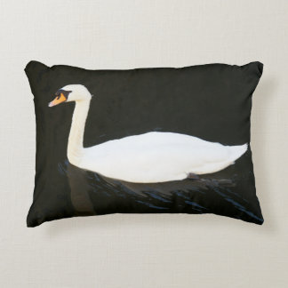 The Swan Pillow. By Frank Mothe.2014 Accent Cushion