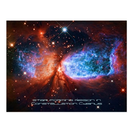 The Swan, Star Birth in Constellation Cygnus Postcard