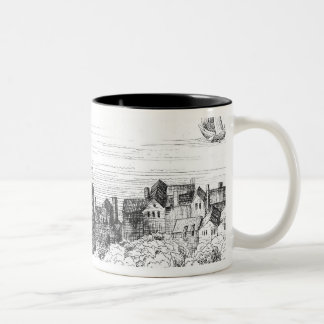 The Swan Theatre on the Bankside as it Two-Tone Coffee Mug